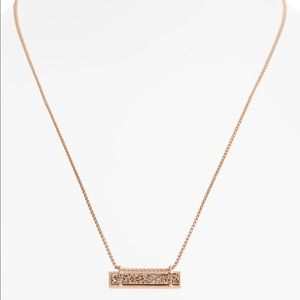 NWT Kendra Scott Rose Gold Leanor Pendant Necklace